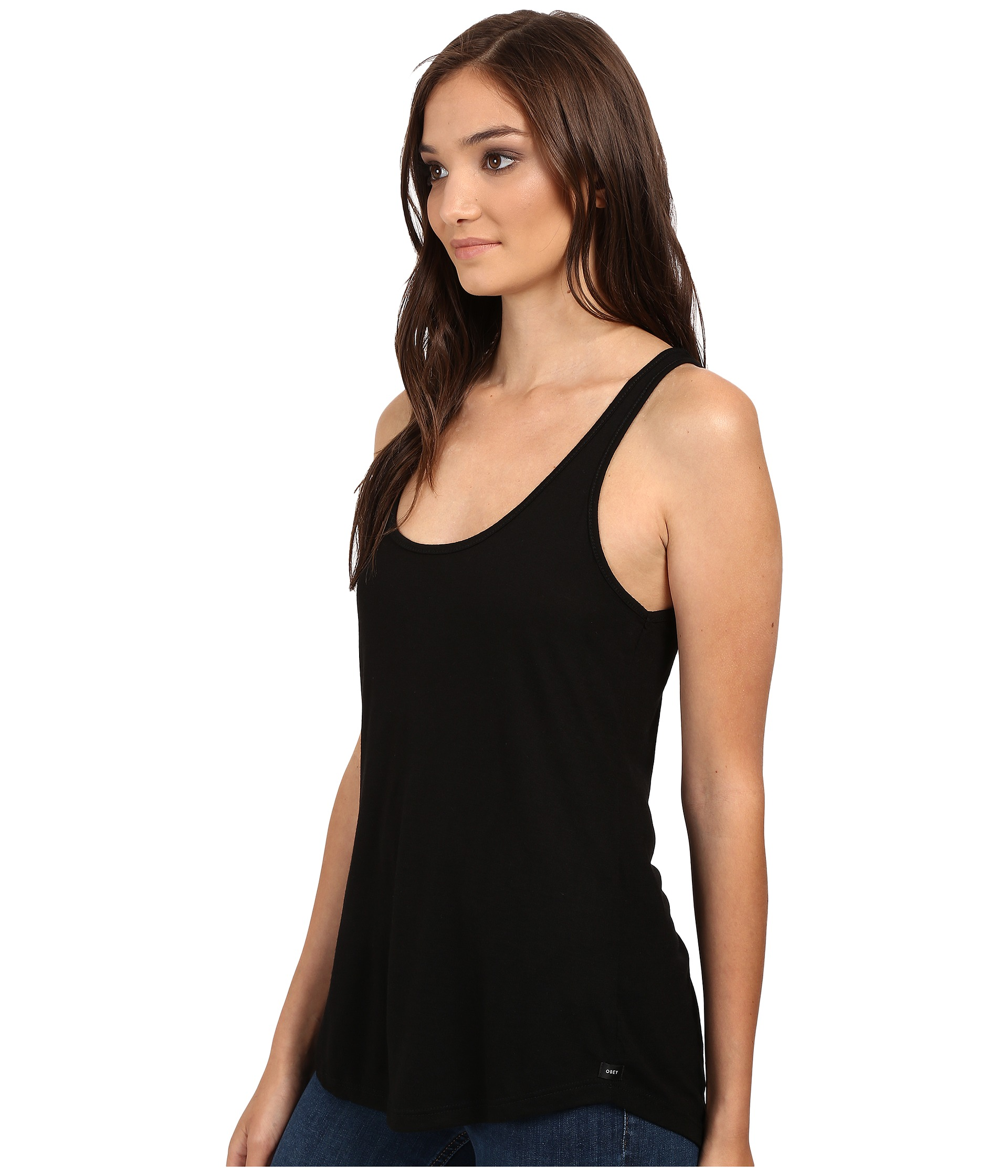 obey off duty tank top black free shipping. Black Bedroom Furniture Sets. Home Design Ideas