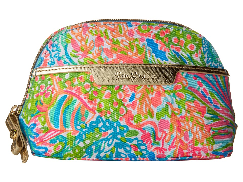 Lilly Pulitzer - Shore Cosmetic Bag (Seaspray Blue Lovers Coral) Cosmetic Case