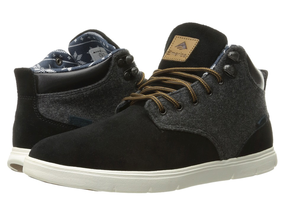 Emerica Wino Hi LT (Black/White/Yellow) Men