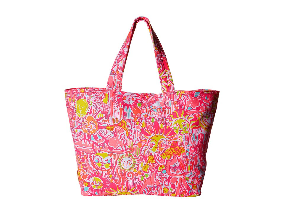 Lilly Pulitzer - Palm Beach Tote (Pink Pout More Kinis In The Keys) Tote Handbags