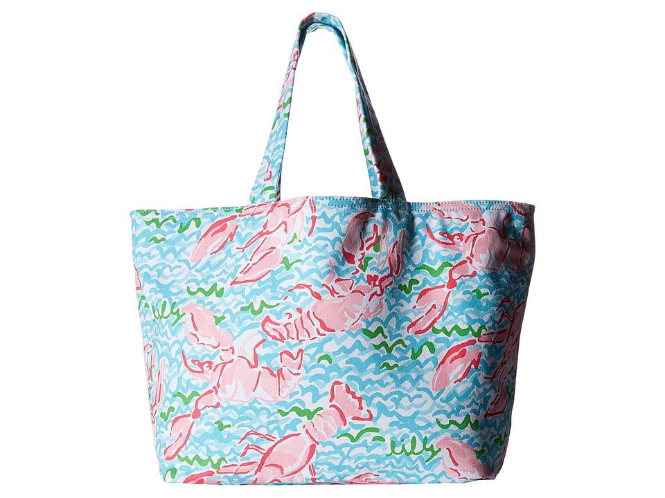 Lilly Pulitzer - Palm Beach Tote (Spa Blue Lobstah Roll) Tote Handbags