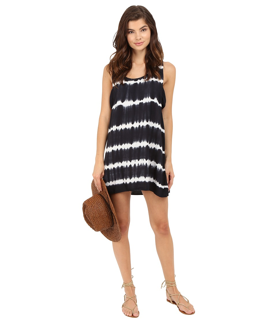 Obey Dark Alley Dress Black Multi Womens Dress