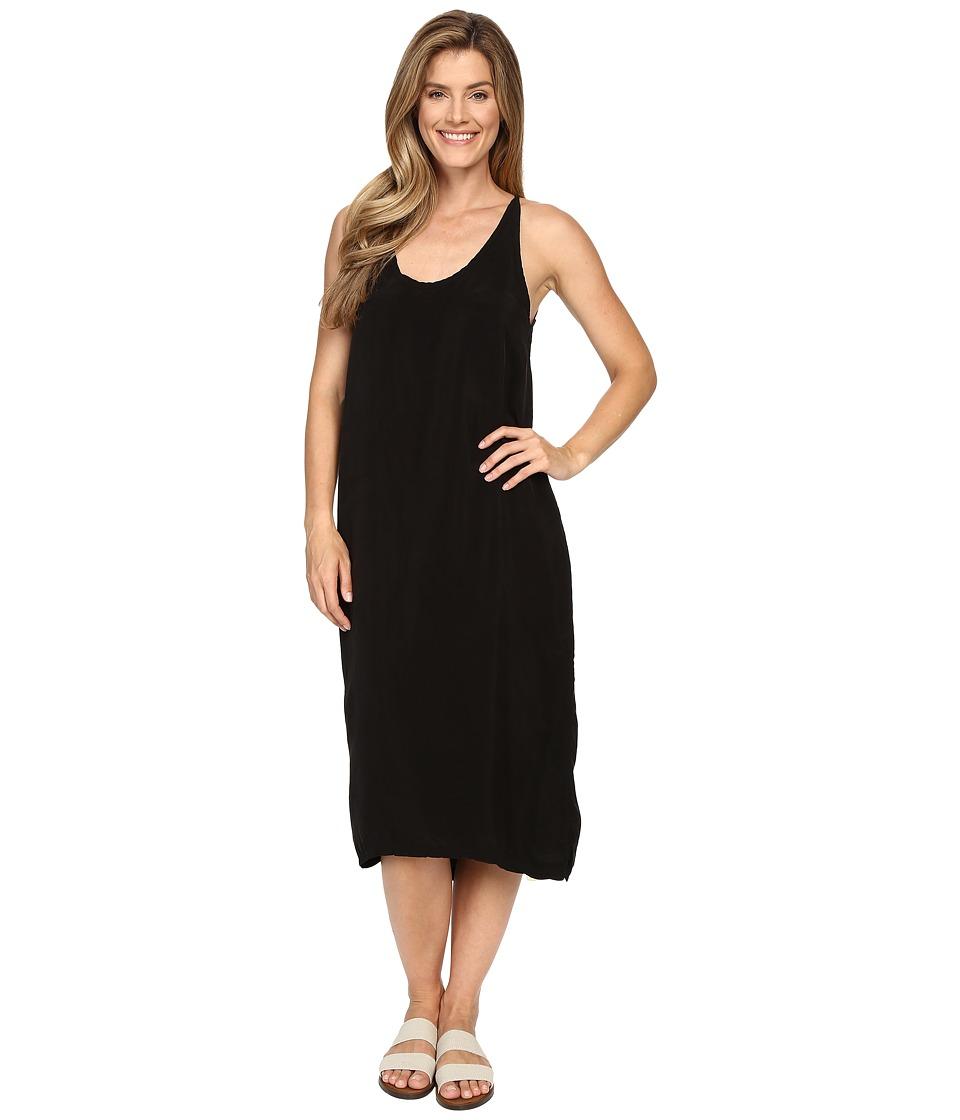 Hard Tail U-Neck Stappy Dress (Black) Women