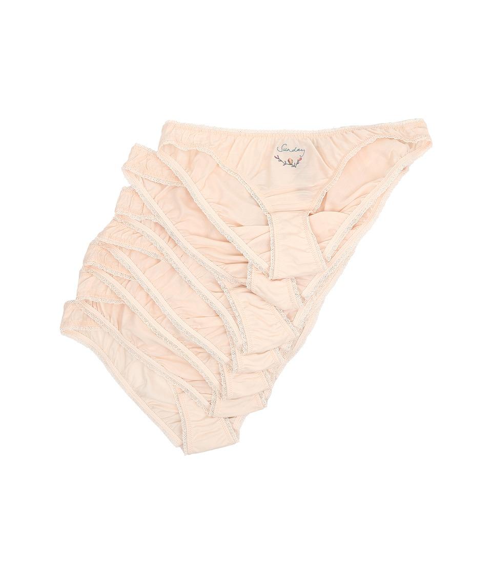 Stella McCartney Knickers of the Week Seven Piece Pack Bikini Brief Light Pink Womens Underwear
