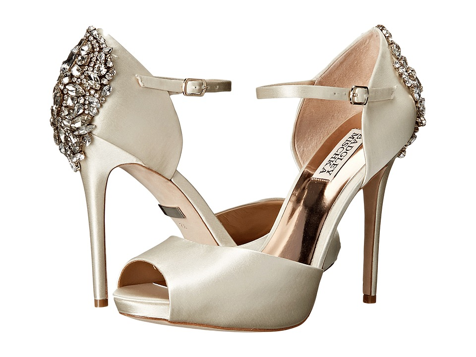 Badgley Mischka - Dawn (Ivory Satin) High Heels