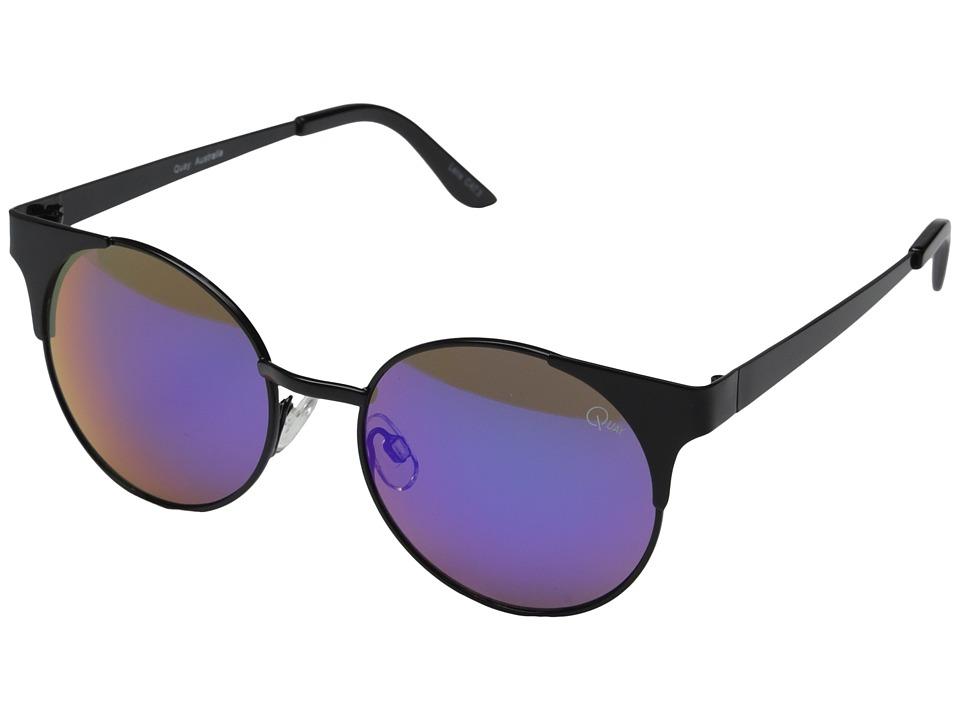 QUAY AUSTRALIA Asha Black/Green Mirror Fashion Sunglasses