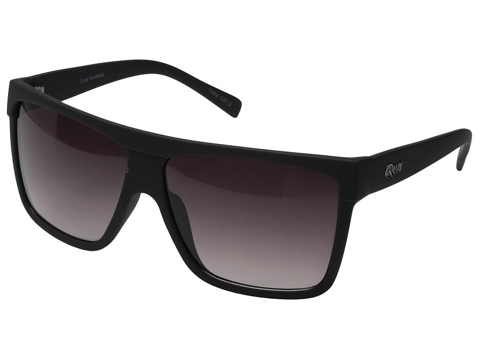 QUAY AUSTRALIA Barnun Black/Smoke Lens Fashion Sunglasses
