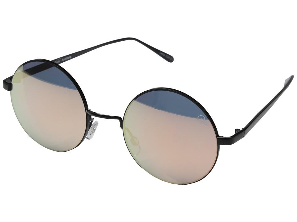 QUAY AUSTRALIA Electric Dreams Black/Mirror Lens Fashion Sunglasses