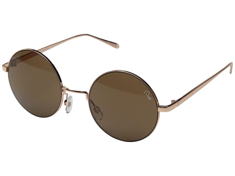 QUAY AUSTRALIA Electric Dreams Rose Gold/Brown Lens Fashion Sunglasses