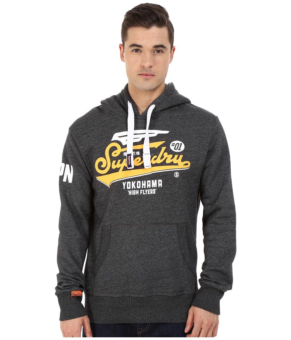 Superdry High Flyers Hoodie Montana Black Jasper Mens Sweatshirt