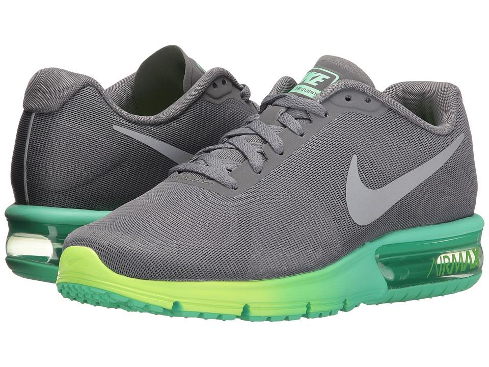 Nike Air Max Sequent (Clear Grey/Metallic Silver/Green Glow/Ghost Green) Women