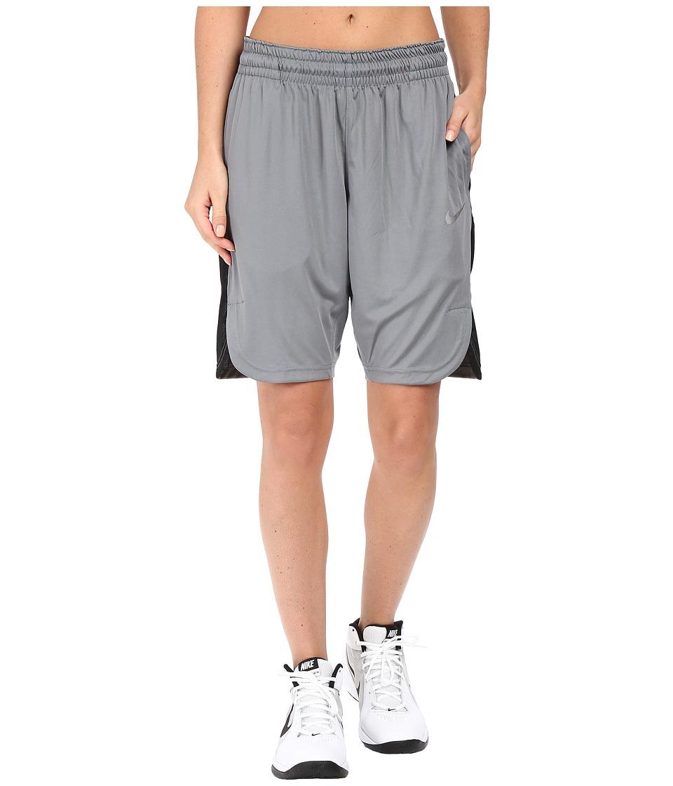 Nike Elite Basketball Short (Cool Grey/Black/Matte Silver) Women