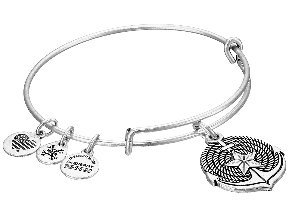 Alex and Ani Anchor II Bangle Silver Bracelet