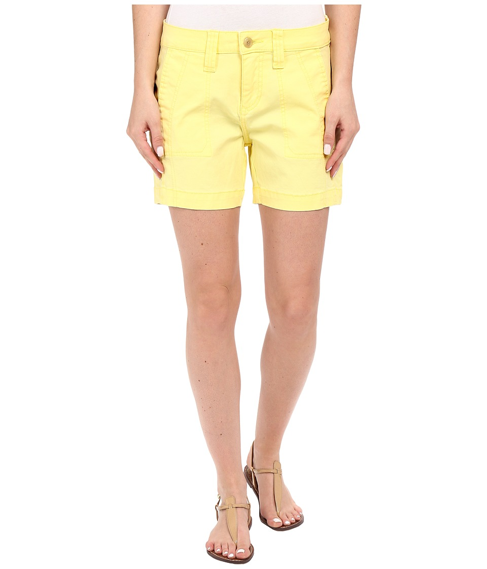 Jag Jeans Petite Petite Somerset Relaxed Fit Shorts in Bay Twill Sweet Lemon Womens Shorts
