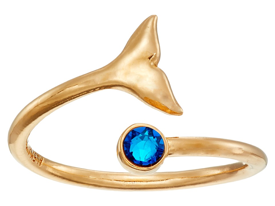 Alex and Ani - Whale Tail Wrap Ring (Gold) Ring