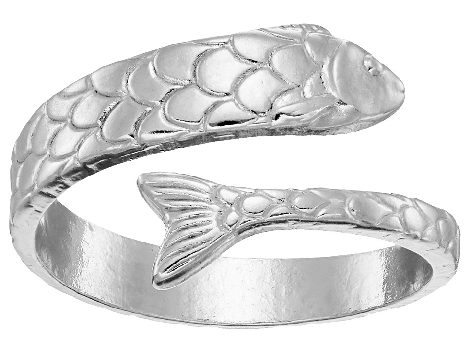 Alex and Ani - Fish Wrap Ring (Silver) Ring