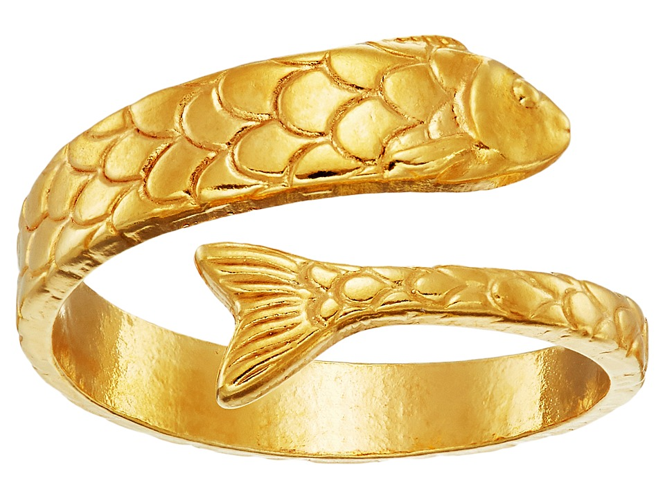 Alex and Ani Fish Wrap Ring Gold Ring