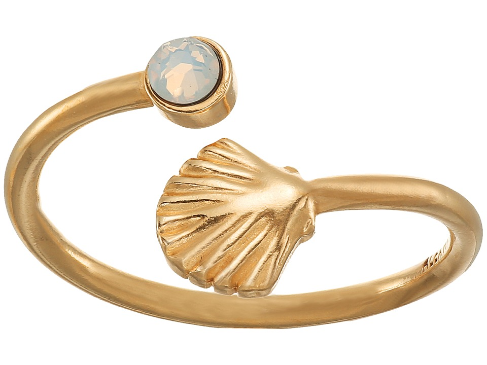 Alex and Ani Shell Wrap Ring Gold Ring