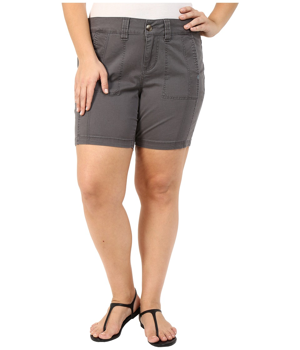 Jag Jeans Plus Size Plus Size Somerset Relaxed Fit Shorts in Bay Twill Flint Womens Shorts