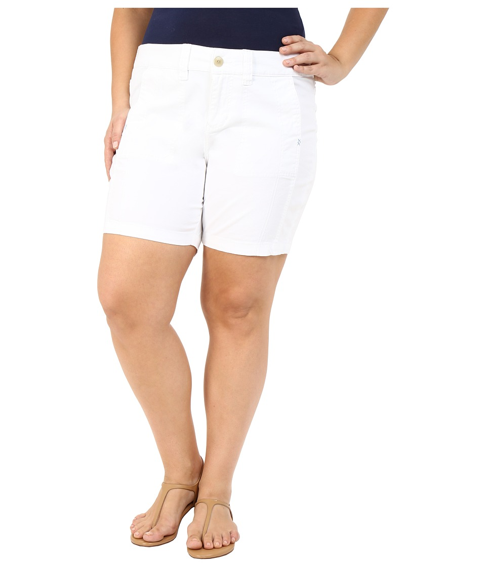 Jag Jeans Plus Size Plus Size Somerset Relaxed Fit Shorts in Bay Twill White Womens Shorts