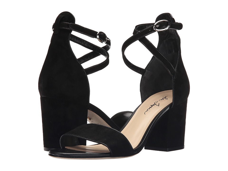 Isa Tapia Fay Black Suede Womens Dress Sandals