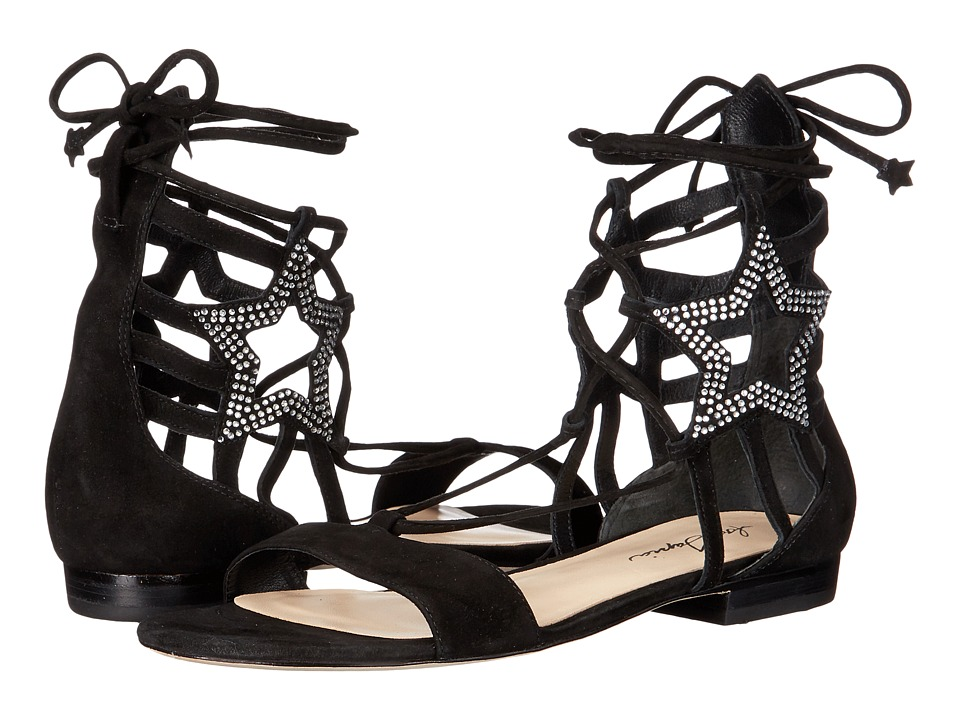 Isa Tapia Theos C Black Kid Suede/Crystals Womens Dress Sandals