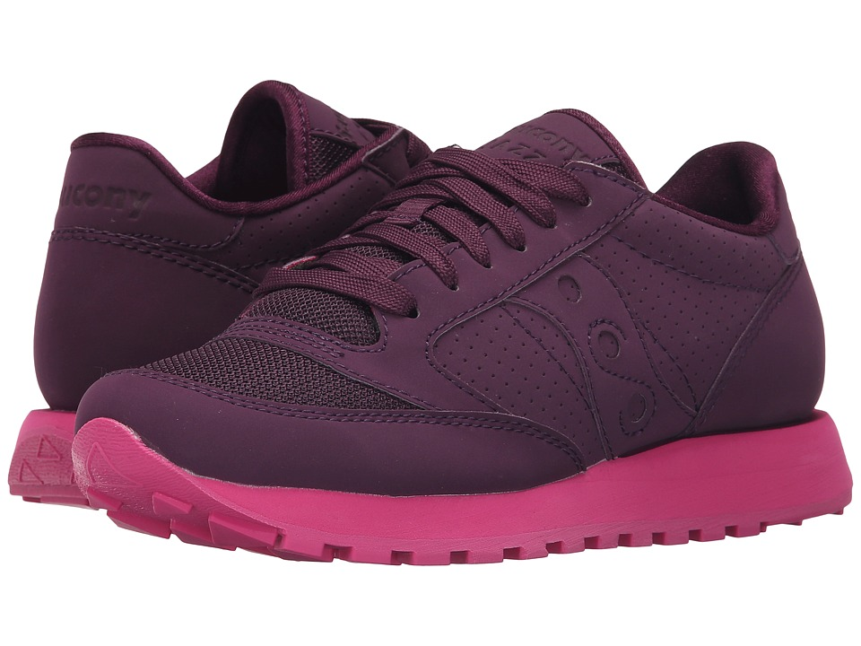 Saucony Originals Grid SD Jazz Original Grape/Purple Womens Classic Shoes