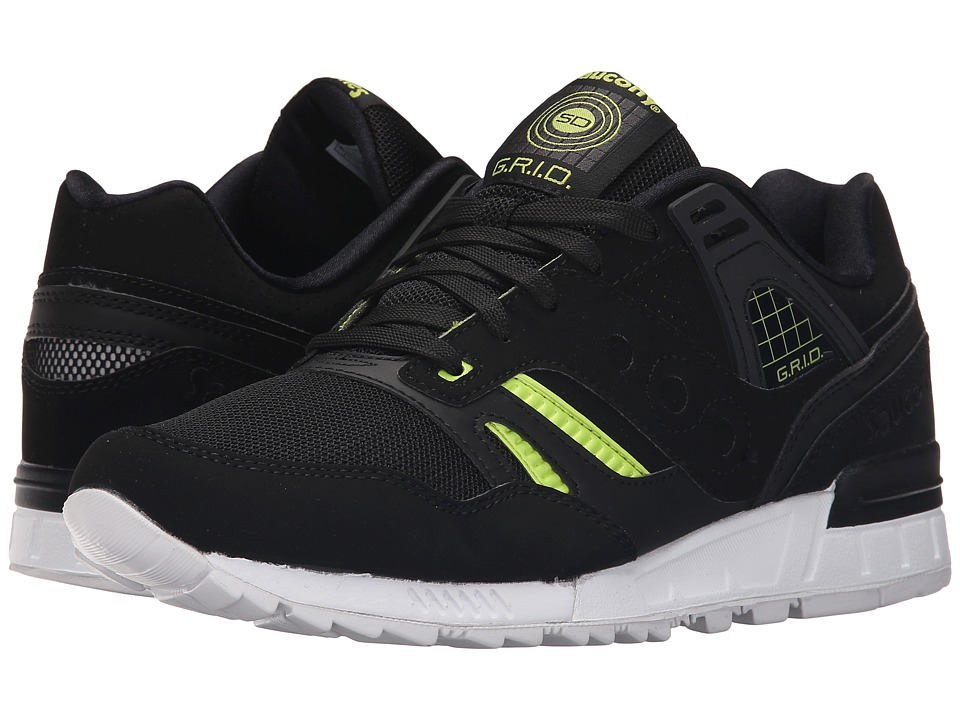 Saucony Originals Grid SD Jazz Original Black/White/Volt Mens Classic Shoes