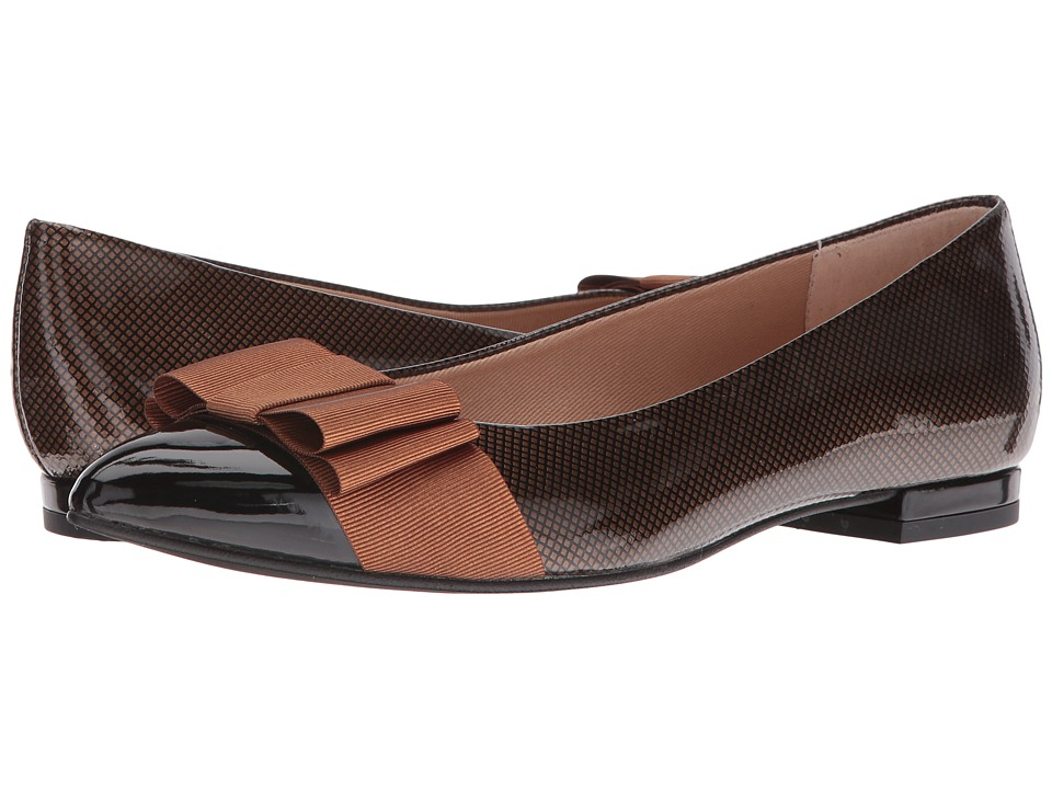 French Sole Onstage (Black/Brown Suede/Patent) Women