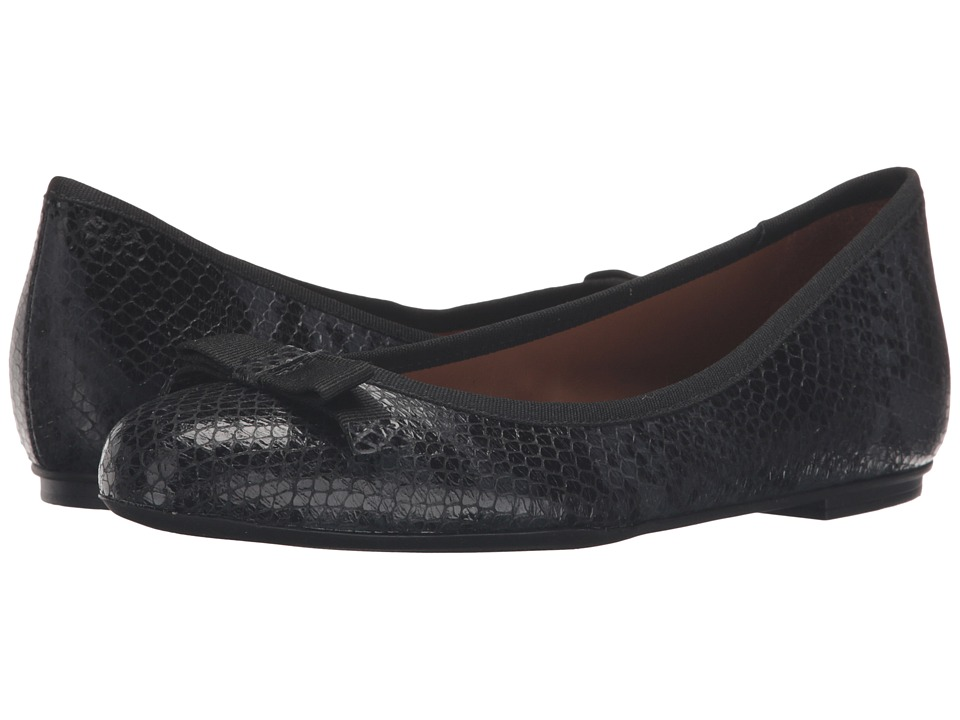 French Sole - Sara (Black Snake Print Leather) Women