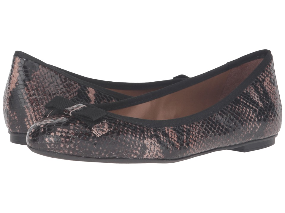 French Sole - Sara (Brown Snake Print Leather) Women