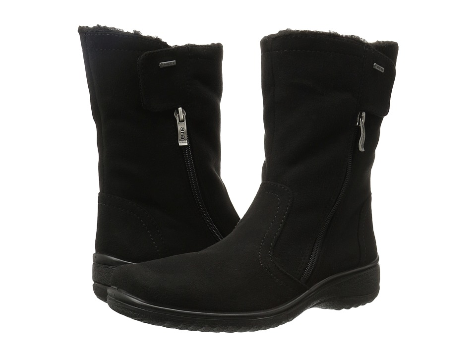 ara Mayfield (Black Microsuede) Women