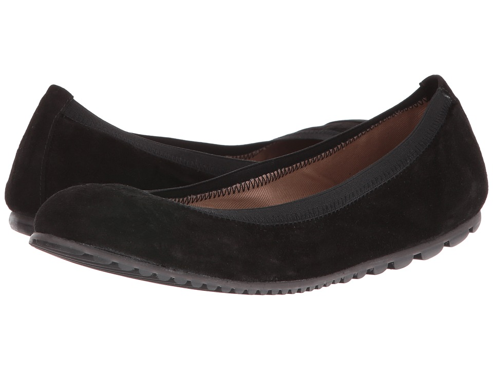 French Sole Tempo (Black Velour Suede) Women