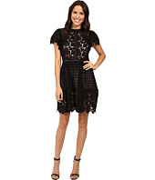 Rebecca Taylor - Short Sleeve Lace Mix Dress