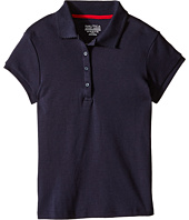 Nautica Kids - Girls Plus Short Sleeve Polo with Picot Stitch Collar (Big Kids)