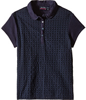 Nautica Kids - Girls Plus Short Sleeve Eyelet Polo (Big Kids)