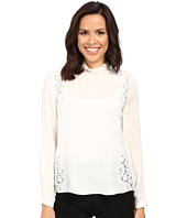 Rebecca Taylor - Long Sleeve Georgette & Lace Top