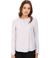 Rebecca Taylor - Long Sleeve Georgette Ruffle Top