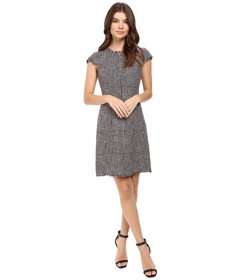 Rebecca Taylor Houndstooth Dress - Teaberry Combo