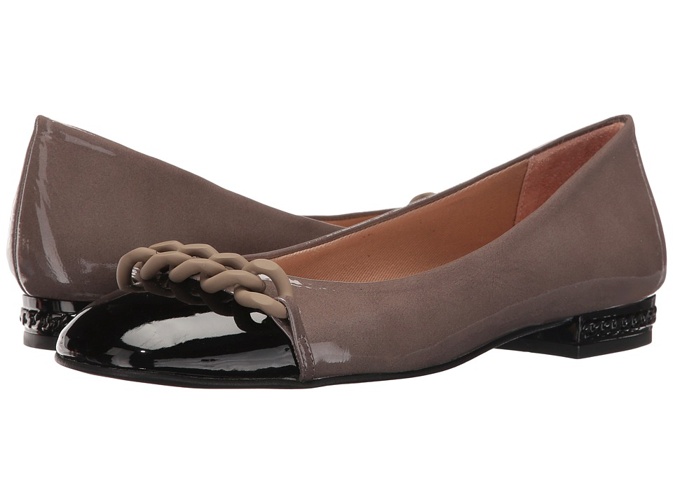 French Sole Tumble (Black/Taupe Patent) Women