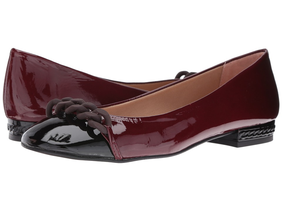 French Sole - Tumble (Black/Wine Patent) Women