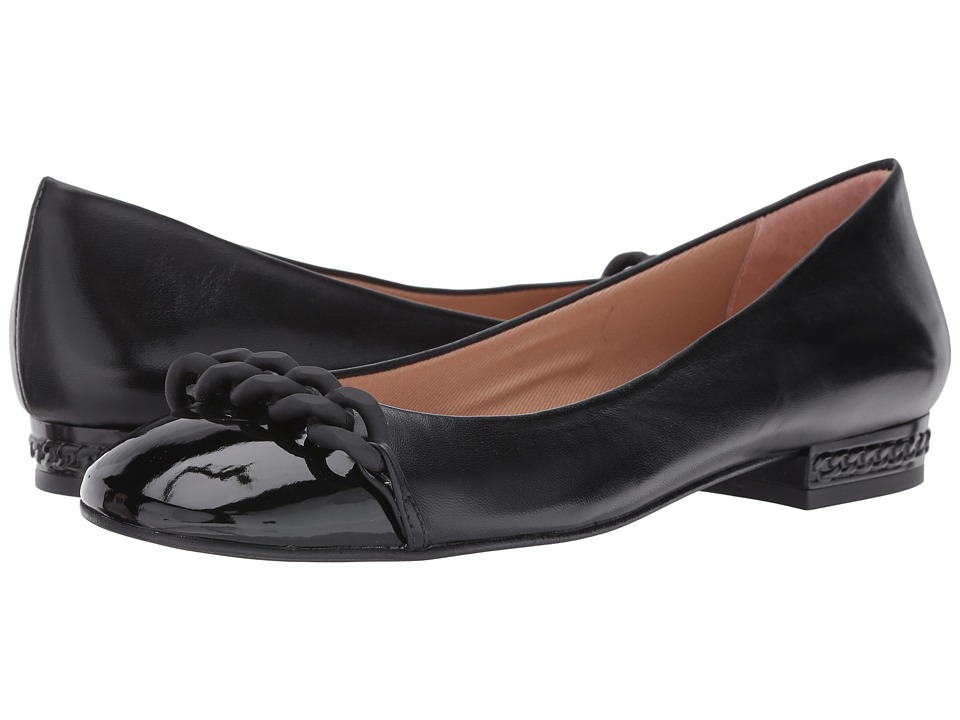 French Sole - Tumble (Black Patent/Nappa) Women