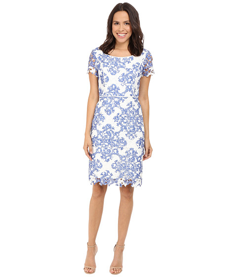 NUE by Shani Printed Etoil Lace Dress