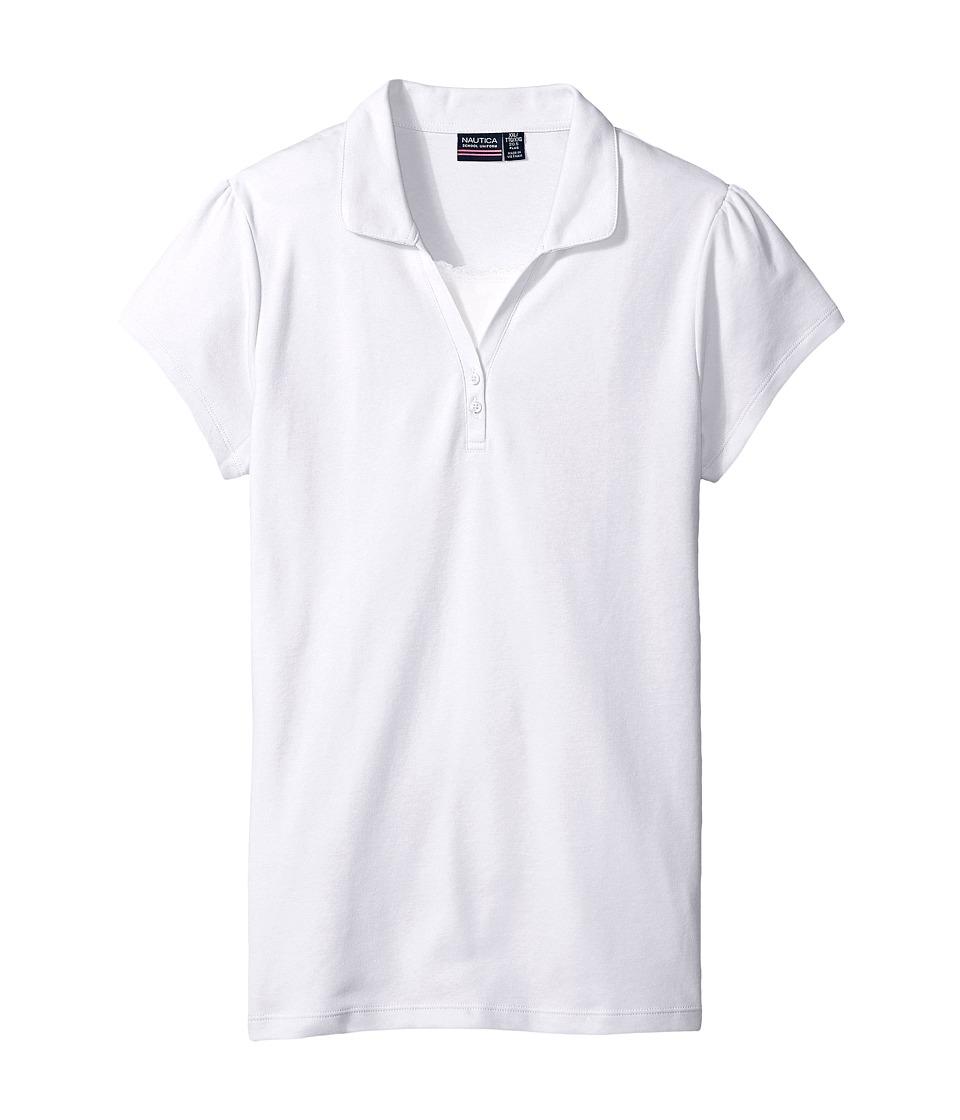 Nautica Kids - Girls Plus Short Sleeve Polo with Cami