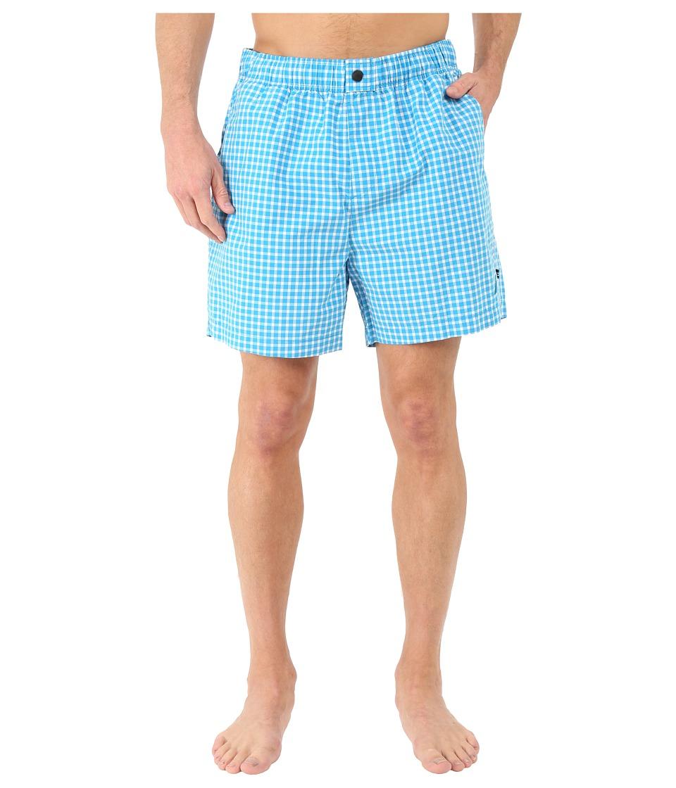 Nautica Gingham Trunk Star Turquoise Mens Swimwear