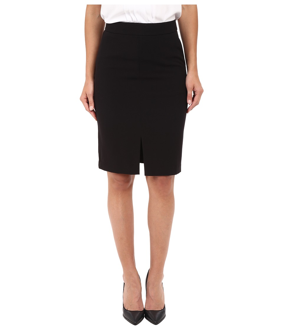kensie Stretch Crepe Pencil Skirt KS2K6221 Black Womens Skirt