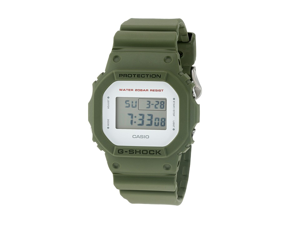 G Shock DW 5600M 3CR Green Sport Watches