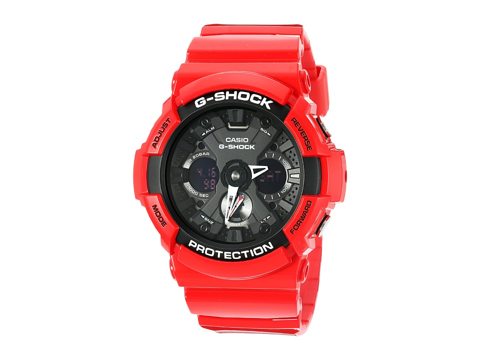 G Shock GA 201RD 4ACR Red Sport Watches