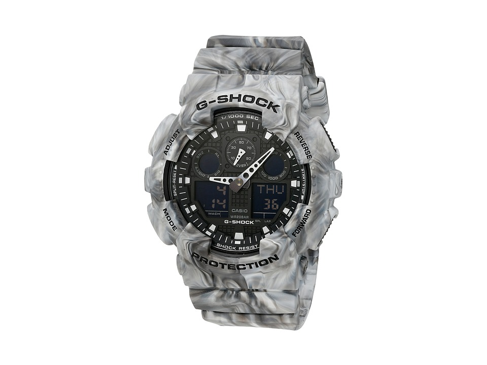 G Shock GA 100MM 8ACR Grey Marble Sport Watches