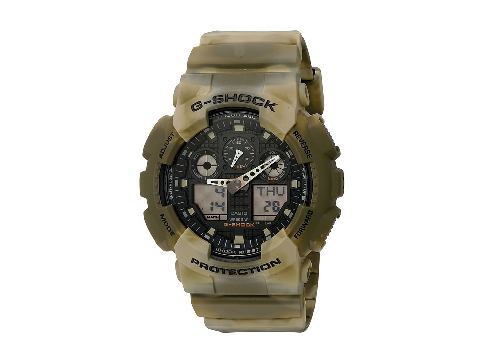 G Shock GA 100MM 5ACR Brown Marble Sport Watches